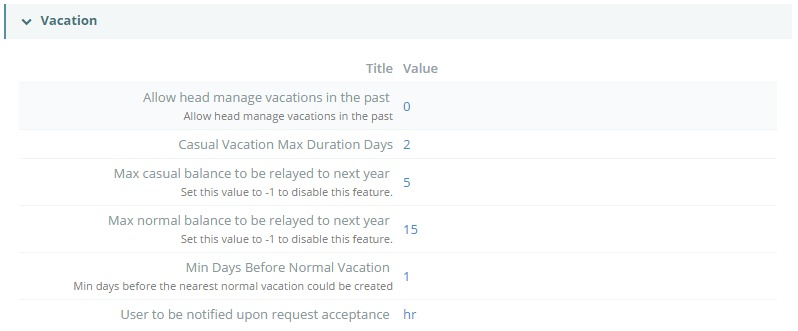 Configuration Managment_HR_Vacation