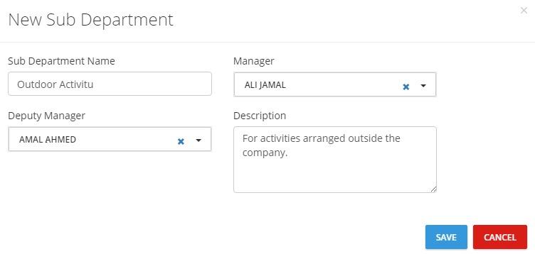 Setup_Departments_Add Sub Department Box