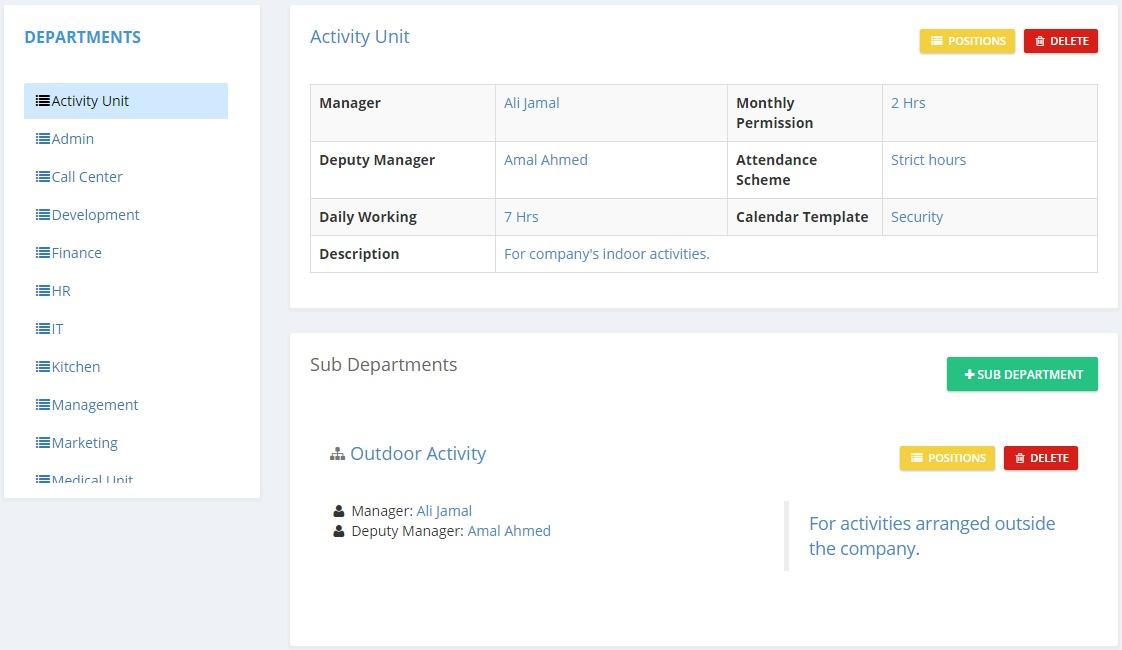 Setup_Departments_Listing