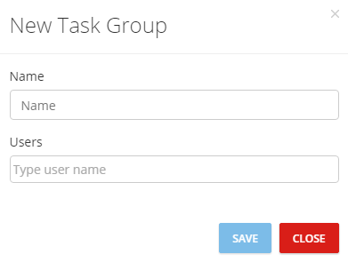 Add Group Task Box