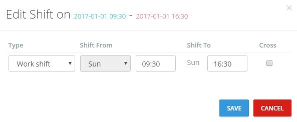 Attendance Report_Edit Shift Box