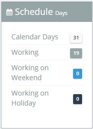 Schedule Widget