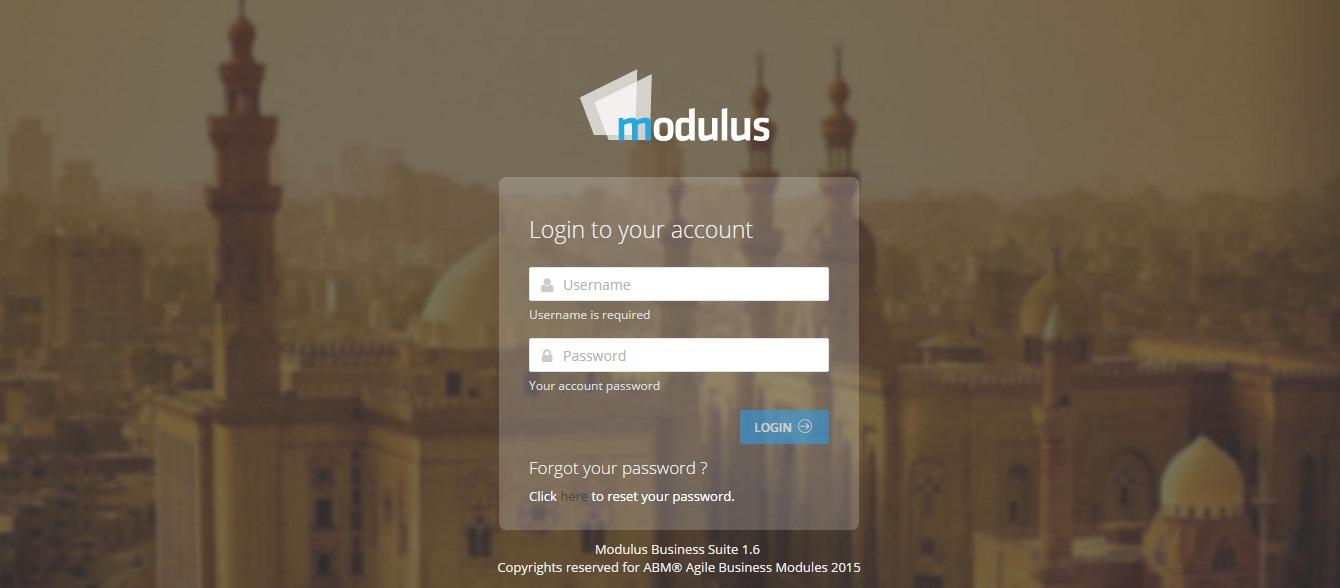 Modulus Business Suite Login
