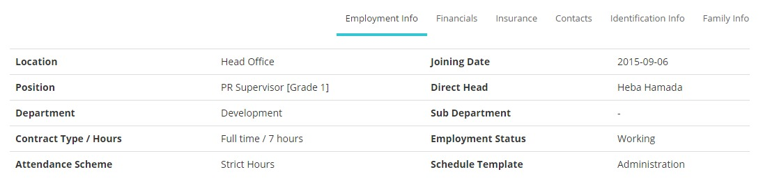 My Profile_Employment Info